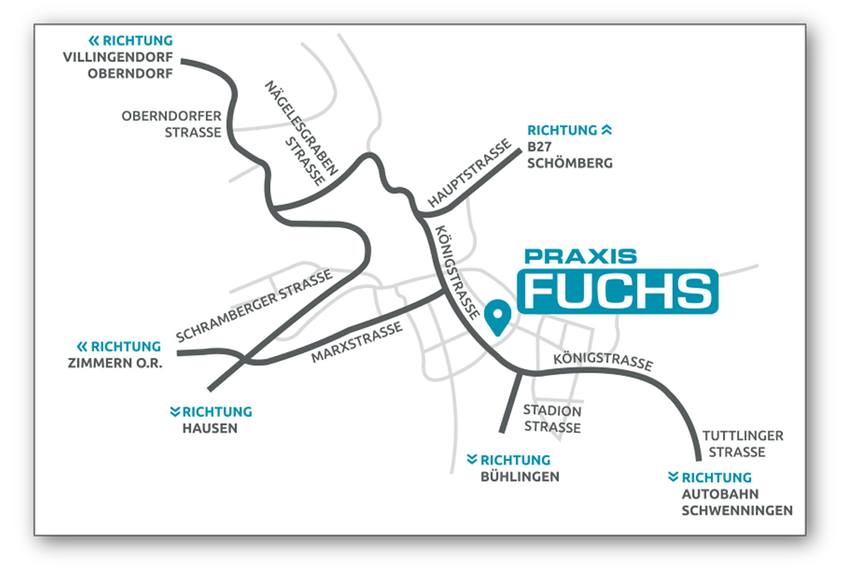 Praxis Fuchs Rottweil Anfahrt Königsstraße 27